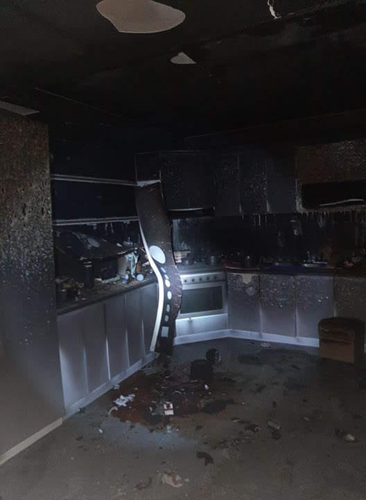 Phòng bếp cũng thiệt hại nặng