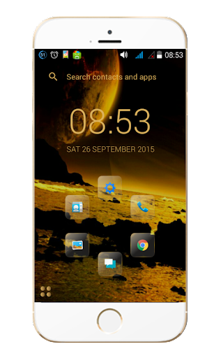 Glass Gold Smart Launcher