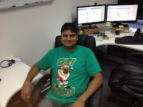 Photo: Brij gets his naughty Santa!