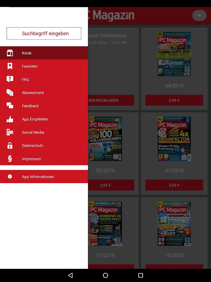 google play magazines on ipad