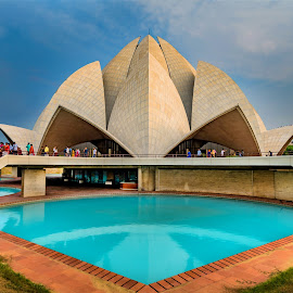 Lotus Temple by Sanjeev Goyal - Buildings & Architecture Other Exteriors ( nikon, lotus temple, temple, delhi, india, worship )