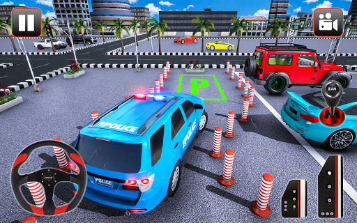 Police Parking Adventure - Car Games Rush 3D apkpoly screenshots 8
