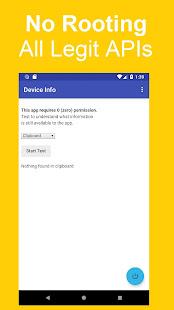 Information Capabilities of a Zero Permission App