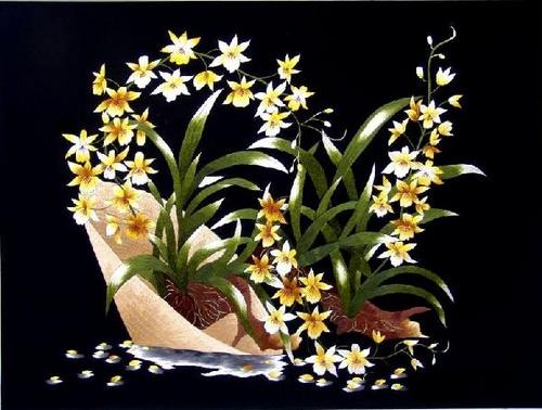 Tranh thêu hoa lan và ý nghĩa đặc biệt trong phong thủy 3