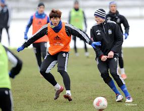 Photo: v.l. Heung Min Son, Marcell JansenFussball, Hamburger SV, Training