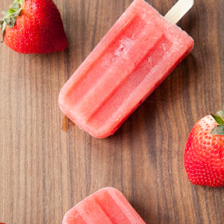 Boozy Strawberry-Watermelon Wine Pops