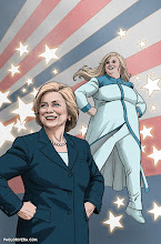 Photo: FAITH 2016 ELECTION SPECIAL COVER. 2016. Ink(ed by Joe Rivera) on bristol board with digital color, 11 × 17″.