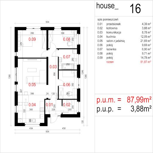 House 16 - Rzut parteru