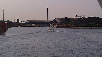Photo: The Zone going into the Calumet River. The next leg of the journey begins.