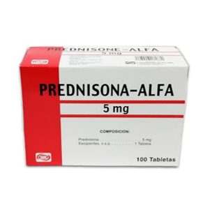 prednisona prednisone 5mg 10tabletas blister alfa