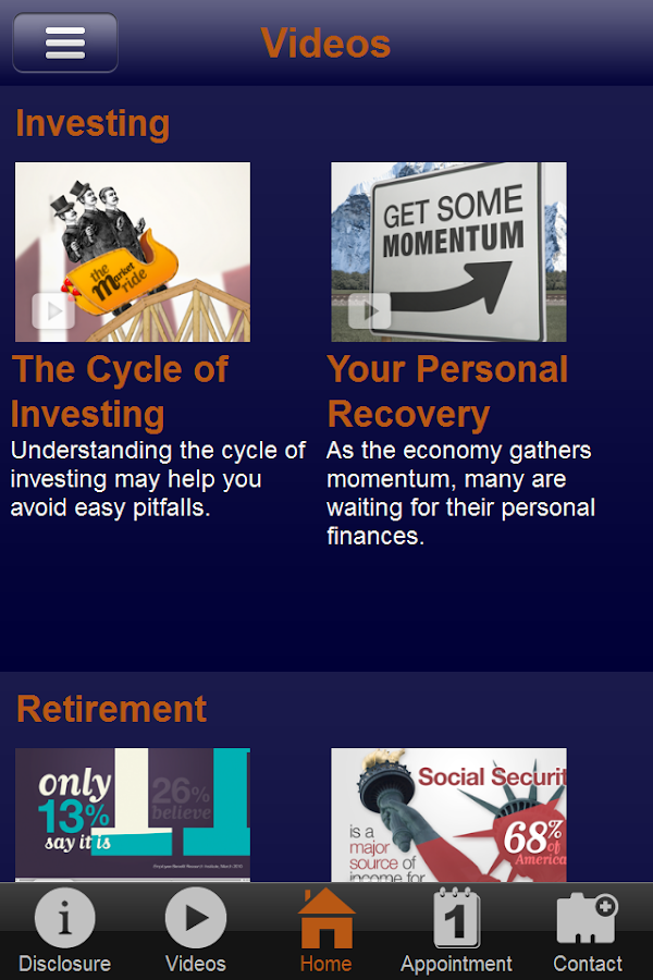 Financial Guideposts- screenshot
