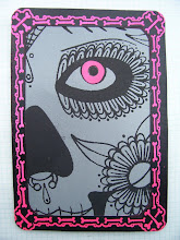 Photo: Mail Art 365 Day 21 card 21b this is that hot pink my scanner will not scan correctly so I shot a picture of it for this card instead of scanning it