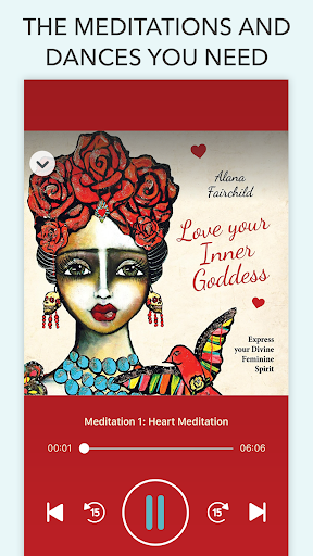 Screenshot for Love Your Inner Goddess Meditations & Dance in United States Play Store