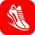 pedometer step count run walk icon