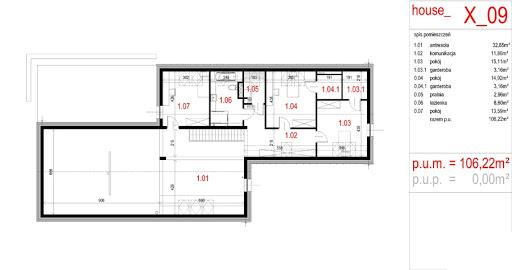 House X09 - Rzut poddasza