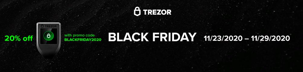 Страница Черной пятницы в интернет-магазине Trezor