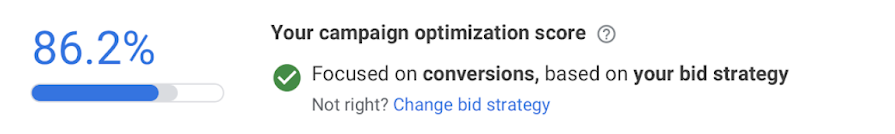 Recommendations in optimization score