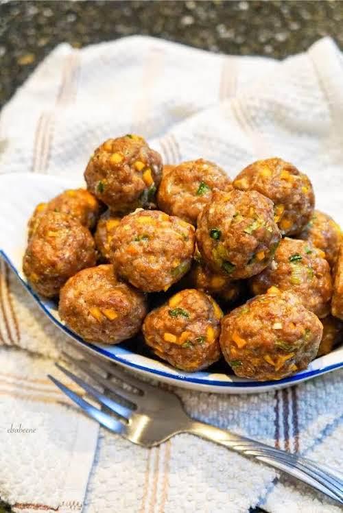 "Mango Jalapeño Meatballs ""These meatballs are so good, juicy, sweet and savory..."