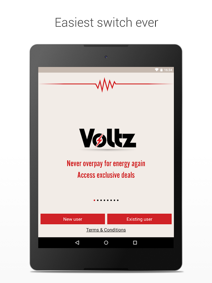 Voltz - energy switching app- screenshot