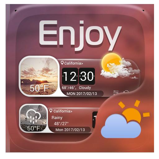 Enjoy GO Weather Widget Theme