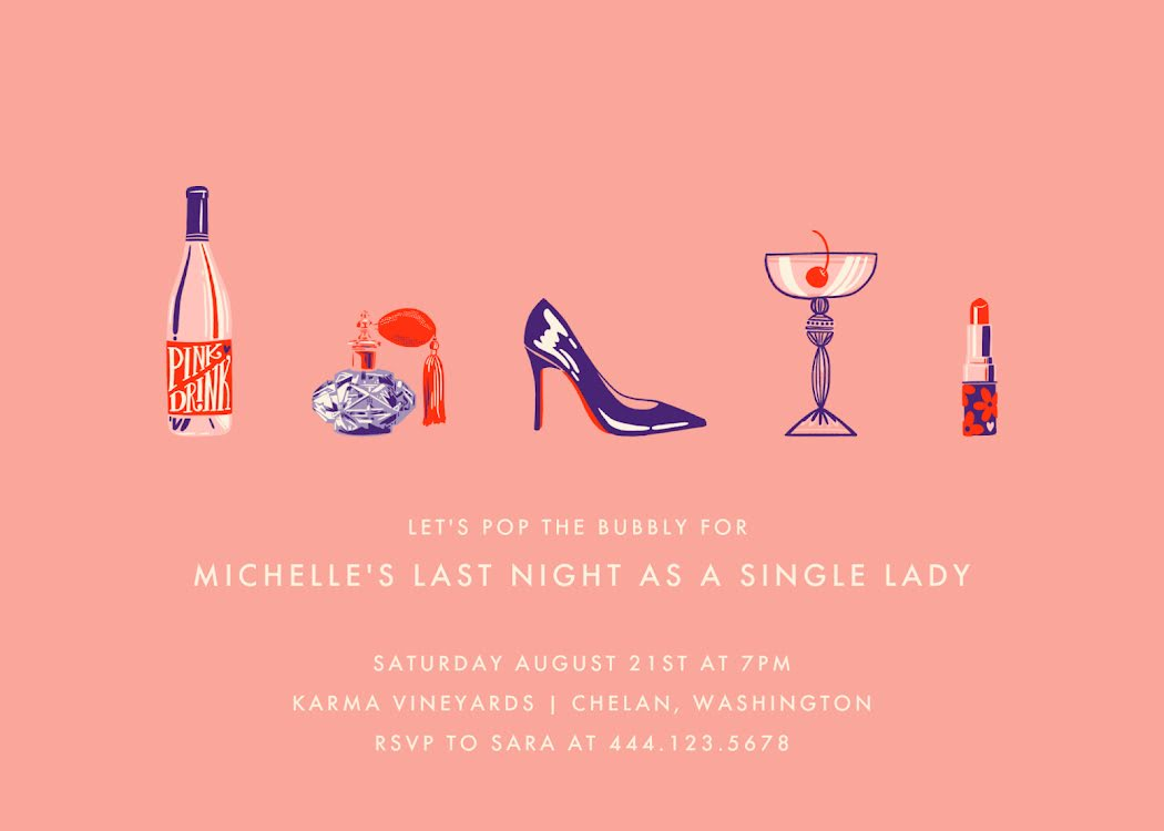 Let's Pop the Bubbly - Party Invitation Template
