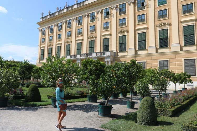Shannon outside Schonbrunn Palace.