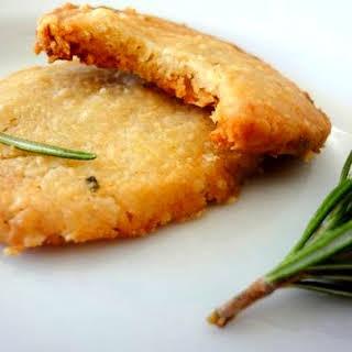 Parmesean-Rosemary Savory Shortbread Rounds.