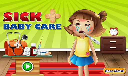 Sick baby care - baby doctor