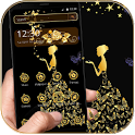 Gold Butterfly Girl Theme icon