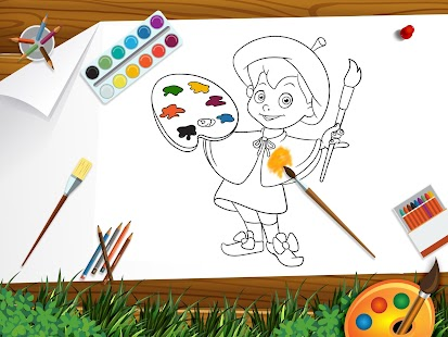 Kids Coloring Book Professions Screenshot Thumbnail