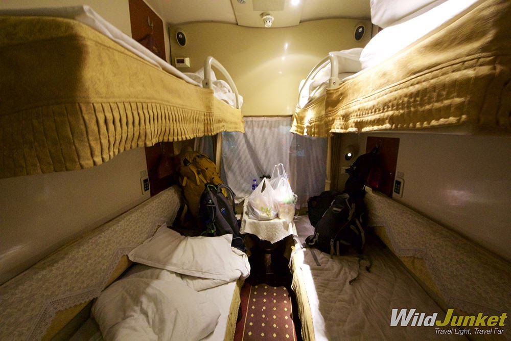 First class cabin in Beijing - Lhasa train