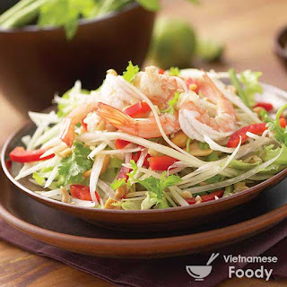 Description Vietnamese Green Papaya Salad (Gủi Đu Đủ)