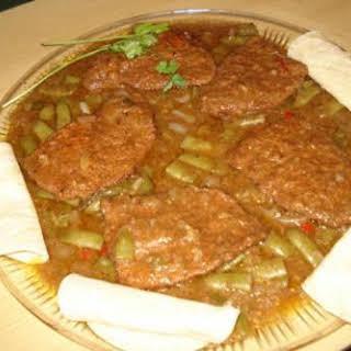 Spicy Bottom Round Steak ( Bistec Guisado).