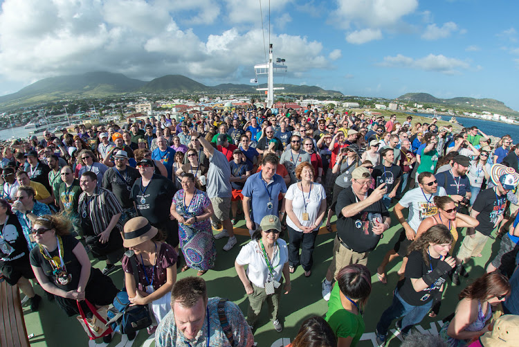 Participants at the 2015 JoCo Cruise, the fifth annual cruise celebrating music, comedy and general nerdery.