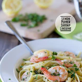 Lemon Pepper Shrimp Linguine.