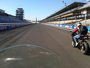 Photo: Riding the Indianapolis Motor Speedway on my motorcycle before the Moto GP weekend.