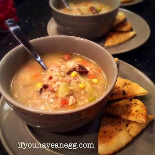 Savory Chicken Dump Soup prep