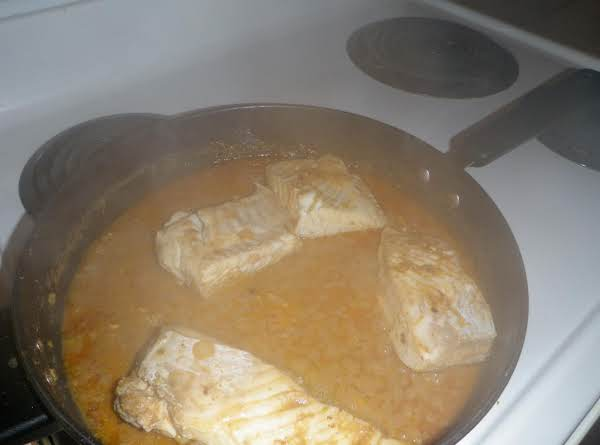 Halibut In Red Curry Coconut Sauce