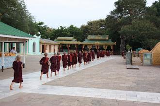 Photo: Year 2 Day 56 -  Procession of Monks at The Lawkananda Pagoda