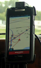 Photo: Using GPS navigation on our Android smartphones