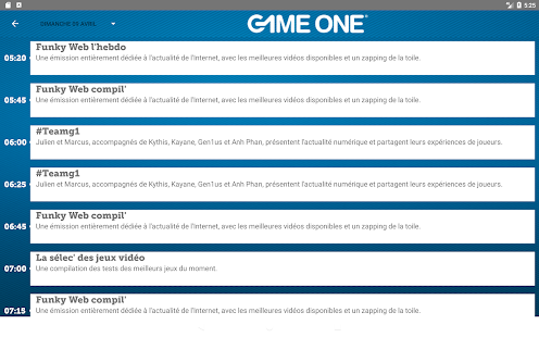 GAME ONE – Vignette de la capture d'écran