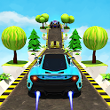 Hill Climb Car Stunts - Mega Ramp GT Car Racing 3D icon