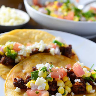 Chorizo Tacos with Sweet Corn Salsa