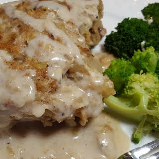 Baked Stuffed Pork Chops.