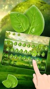 Dewdrops Leaves Keyboard - náhled