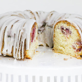 Coconut Lemon Raspberry Bundt Cake #ChristmasWeek