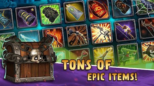 Screenshot 2 Skull Towers: Best Offline Castle Defense Games 1.0.16 APK MOD