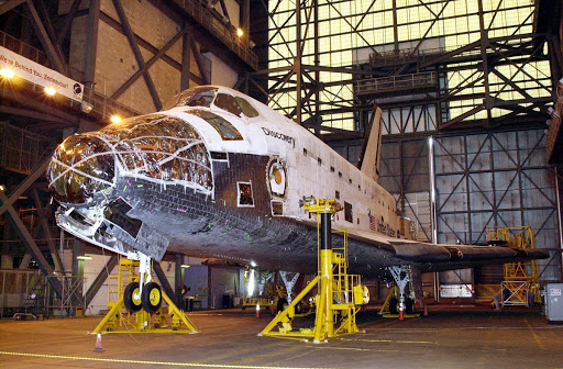 Discovery shown has been inactive since its last mission that ended Aug. 22, 2001.