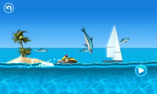兒童賽車遊戲 - 熱帶小島