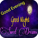 Good Evening and Night Images Gif With Messages icon